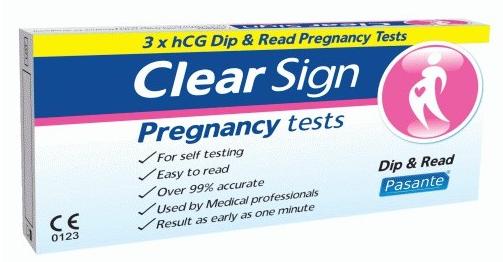 test di gravidanza clearn sign stick