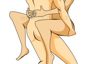 Posizione sessuale in braccio: si fa ovunque