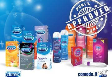 gel, oli, preservativi e tanti altri prodotti