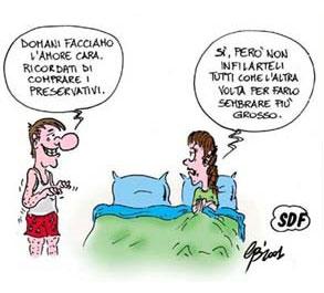 Vignetta sul preservativo